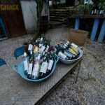 A display of bottles - Haritatos vineyard